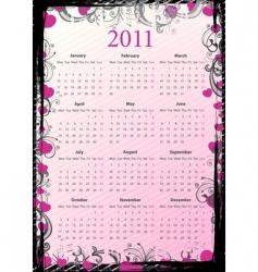 European grungy calendar 2011 vector image