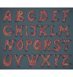 Fantasy hand drawn font vector image