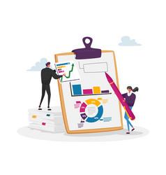 Financial audit and literacy financier banker vector
