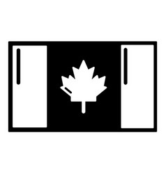 flag canada icon simple black style vector image