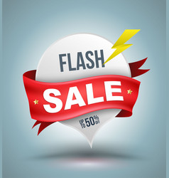 Flash sale banner vector