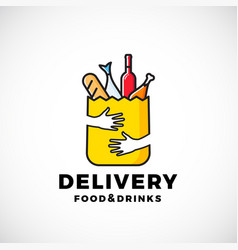 food and drinks delivery abstract sign or vector image