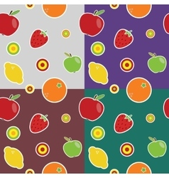 fruit colored pattern vector image