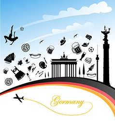 Germany background vector