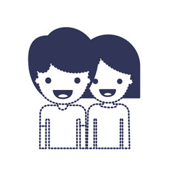 half body people with boy in t-shirt and short vector image