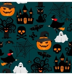 halloween wrapping seamless pattern vector image