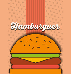 hamburger fast food menu restaurant vector image