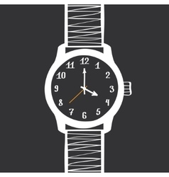 Hand Drawn Vintage Watch Design Element vector image
