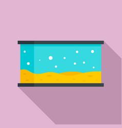 home aquarium icon flat style vector image