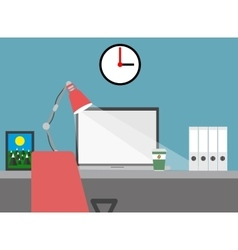 Home workspace flat vector image