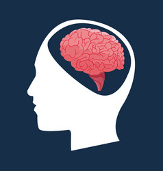 Human head brain concept vector