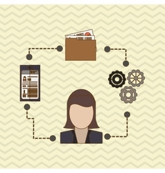 Human resources search design vector