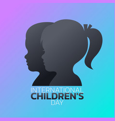 international children day logo icon design vector image