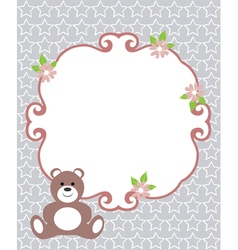 Invitation card bear vector