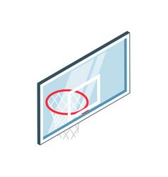 isometric basketball basket vector image