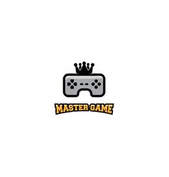 King game logo design template vector