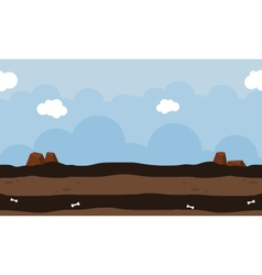 Landscape for game design art vector image