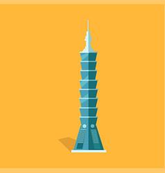 Lasting taipei 101-story skyscraper in taiwan vector
