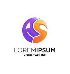 letter as logo design vector image