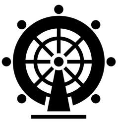london eye solid vector image