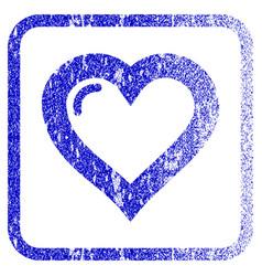 Love heart framed textured icon vector