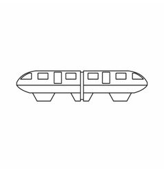 Monorail train icon outline style vector