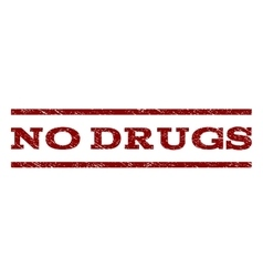 No Drugs Watermark Stamp vector