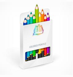 Pencil boxes color vector