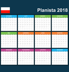 polish planner blank for 2018 scheduler agenda or vector image