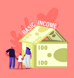 Property insurance universal basic income concept vector