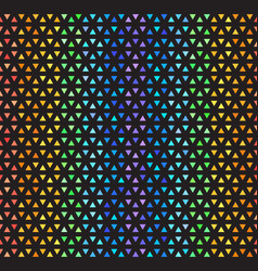 Rainbow striped triangle mosaic pattern seamless vector