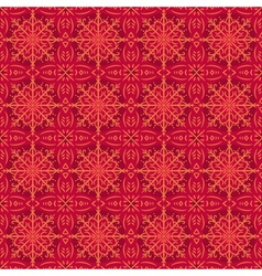 Red christmas background with seamless pattern vector