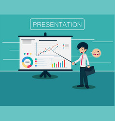 salary man 01 presentation vector image