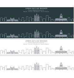 Salt lake city single line skyline banner vector