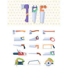 sawmills tools professional axe collections vector image