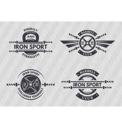 Set of sports emblems vector