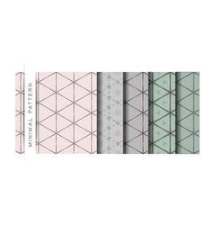 Set of the minimal pattern wallpaper pattern backg vector