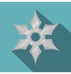 Shuriken weapon icon flat style vector