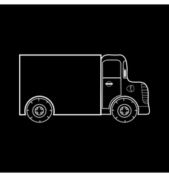 Small truck for transporting medium heavy loads vector