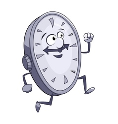 Smiling clock is running vector