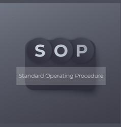Sop standard operating procedure concept vector