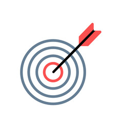 Target red with arrow line icon vector
