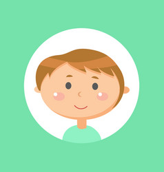 teenager face smiling boy emotion kid vector image