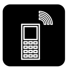 the sign of the handset vector image