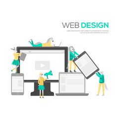 the web design structure and is public vector image