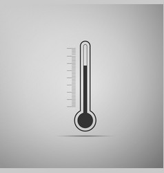 thermometer icon isolated on grey background vector image