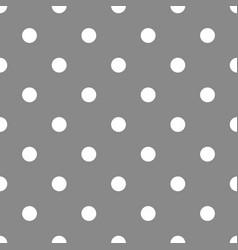 Tile polka dots grey pattern for decoration vector