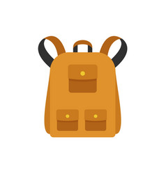 traditional backpack icon flat style vector image