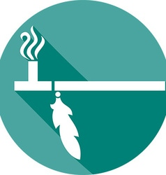Traditional native american peace pipe icon vector