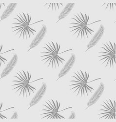 tropical flora seamless pattern with two kinds of vector image